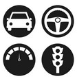 garage icons set in circle button vector image