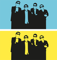 glasses man vector image vector image