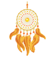 Golden Dream Catcher vector image