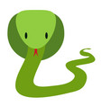 green friendly cobra snake in flat style vector image