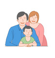 happy family concept dad mom and son vector image