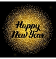Happy New Year Lettering over Gold vector image vector image