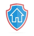 House on shield logo or icon vector image