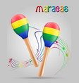maracas musical instruments stock vector image vector image