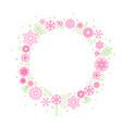 minimalist floral background frame vector image vector image