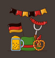 oktoberfest germany celebration vector image vector image