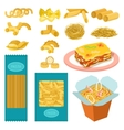 Pasta products set vector image vector image