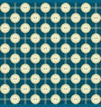 pattern with buttons and stripes vector image