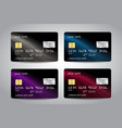 realistic detailed credit cards vector image
