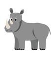 rhino wild animal vector image vector image