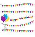 Set happy birthday garland vector image vector image