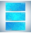 Set of polygonal horizontal backgrounds Low poly vector image vector image