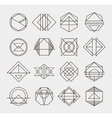 Set of retro line abstract hipster monochrome vector image vector image
