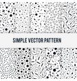 set of simple chaotic forms of pattern on a vector image vector image