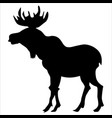 silhouette moose vector image vector image