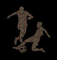 soccer player slide action vector image