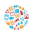 social media round design template vector image vector image
