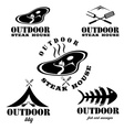 steak house and bbq outdoor vector image vector image