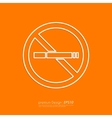 Stock Linear icon no smoking vector image