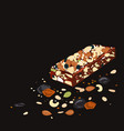superfood breakfast bar with oats and dried fruits vector image vector image