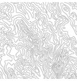 topographic map black line on white vector image