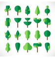 trees large set flat paper vector image