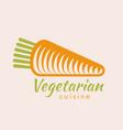 vegan or vegetarian badge vector image vector image