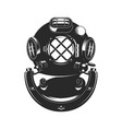 vintage style diver helmet vector image vector image