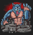 warewolf dark night horor ware wolf artwork vector image