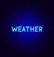 weather neon text vector image vector image