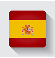Web button with flag of Spain vector image