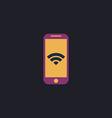 Wifi smartphone computer symbol vector image vector image