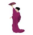 Woman in kimono vector image vector image