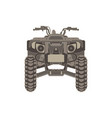 atv front view isolated icon off-road motorcycles vector image