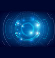 abstract hud technology background 007 vector image vector image