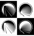 abstract images of tunnel in the mountain vector image vector image