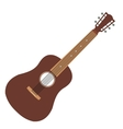 Acoustic guitar flat icon vector image vector image