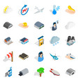 air adventure icons set isometric style vector image vector image