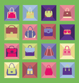 bags icons flat 2 38 vector image vector image