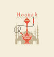 banner with a hookah on background the vector image