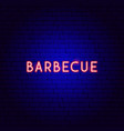barbecue neon text vector image