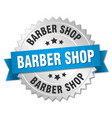 barber shop round isolated silver badge vector image vector image