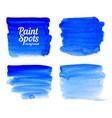 blue paint spot banners set vector image