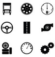 car driver icon set vector image