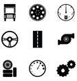 car driver icon set vector image vector image