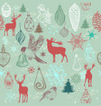 christmas hand drawn background xmas decorations vector image vector image