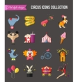 Circus entertainment icons set for infographics vector image vector image