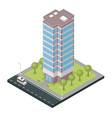 city building isometric vector image vector image