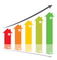 color graph show home price increase stcok vector image