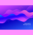 colorful abstract geometric background gradient vector image vector image